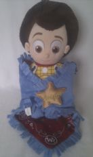 Rare Adorable Disney Babies 'Woody Cowboy' in a Blanket Plush Toy